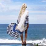 Boho Beach Holiday Chiffon ladies tops kimono