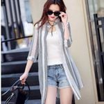 Cardigan Elegant Chiffon Blouse Long Shirts