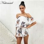 Floral Print Beach Chiffon Playsuits Rompers