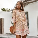 Foridol boho rompers jumpsuits floral print