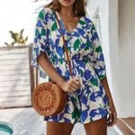 Bohemian Playsuit V-Neck Loose Holiday Beach Rompers