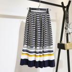 Boho Formal Elegant Geometric A-Line Natural Skirts
