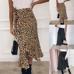 Sexy Leopard Print Boho Skirt Wrap