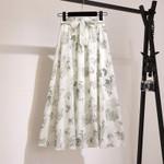 High Waist Floral Print Holiday Boho Beach Skirt