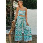 Wide-leg pants and Crop Top suit beach Bohemia