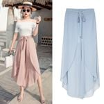 Fashion Loose Chiffon Wide Leg Pants