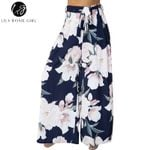 Lily Rosie Girl Floral Print Wide Leg Pants