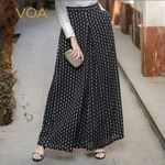 Silk Plus Size Loose Casual Wide Leg Pants