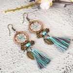Luxury Bohemian Ethnic Drop Earrings Vintage