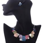 New Vintage Handmade Geometric Pendant Choker Necklace