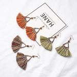 Ethnic Handmade Craft Fabric Tassel Dangle Drop Earrings