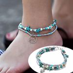 starfish natural shell feet beach barefoot bracelet