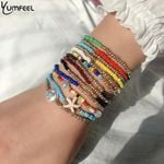 Bohemian Multi Layered Boho Glass Seed Beads Bracelets