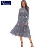 New Floral Chiffon blue Dress