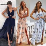 Boho Maxi Long Beach Dresses