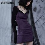 Dark Vintage Gothic Solid Grunge Punk Dress