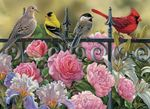 Artsyhomes [Jigsaw Puzzles] Birds on a Fence Jigsaw Puzzle  CL27050055