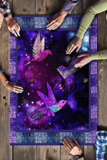 Animals, Hummingbirds, Galaxy Background Puzzle 21052020