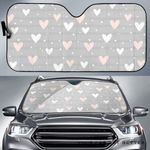 Artsyhomes [Car Sunshade] Heart Pattern Gray -3735
