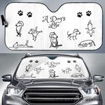 Artsyhomes [Car Sunshade] A Dog'S Life   201601-4007