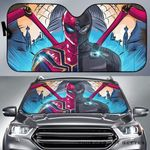 Artsyhomes [Car Sunshade] Iron Spider Stealth Suit Spiderman Far From Home  -3736