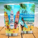 Artsyhomes [Tumbler] The Beach Is My Happy Place Tumbler 1717