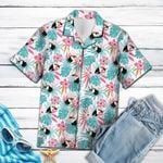 Artsyhomes [Hawaii Shirt] Toucan Bird Flower T0607
