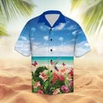 Artsyhomes [Hawaii Shirt] Floral summer with hummingbird and butterfly H1708