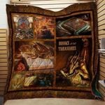 Theartsyhomes Book J1102 84o33 3D Personalized Customized Quilt Blanket ESR13