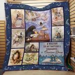 Theartsyhomes Book Writer 3D Personalized Customized Quilt Blanket ESR39