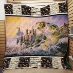 Theartsyhomes Fishing Washable Handmade 1412-01 3D Personalized Customized Quilt Blanket ESR50