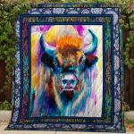 Theartsyhomes Bison #Bfeb-2 3D Personalized Customized Quilt Blanket ESR39