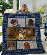 Theartsyhomes Dachshund Qui12003 3D Personalized Customized Quilt Blanket ESR16