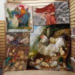 Theartsyhomes Farmer Who Love Chicken 3D Personalized Customized Quilt Blanket ESR23