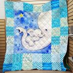 Theartsyhomes Elephant Printing Pm-Qvk1003 3D Personalized Customized Quilt Blanket ESR48