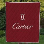 Theartsyhomes Cartier logo 3D Personalized Customized Quilt Blanket ESR8