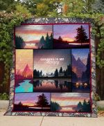 Theartsyhomes Camping Is My Therapy 3D Personalized Customized Quilt Blanket ESR18