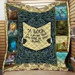 Theartsyhomes Book Hold Dream 3D Personalized Customized Quilt Blanket ESR10