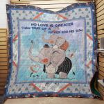 Theartsyhomes Elephant F2502 86040 3D Personalized Customized Quilt Blanket ESR2