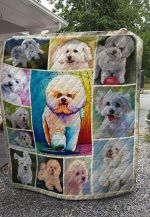 Theartsyhomes Bichon Dog 3D Personalized Customized Quilt Blanket ESR3