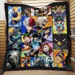 Theartsyhomes Boku No Hero 3D Personalized Customized Quilt Blanket ESR45