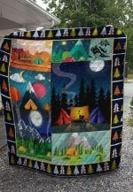 Theartsyhomes Camping Night 3D Personalized Customized Quilt Blanket ESR21