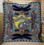 Theartsyhomes Dragonfly V21 3D Personalized Customized Quilt Blanket ESR3