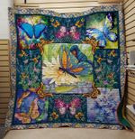 Theartsyhomes Butterfly Flower 3D Personalized Customized Quilt Blanket ESR6