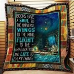 Theartsyhomes Book Lover 3D Personalized Customized Quilt Blanket ESR21