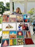 Theartsyhomes Earth, Wind & Fire 3D Personalized Customized Quilt Blanket ESR26