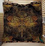 Theartsyhomes Dragonfly V14 3D Personalized Customized Quilt Blanket ESR45