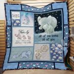 Theartsyhomes Elephant F2107 83o33 3D Personalized Customized Quilt Blanket ESR45
