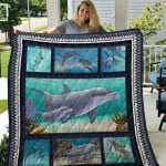 Theartsyhomes Dolphin Quiani12003 3D Personalized Customized Quilt Blanket ESR26