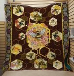Theartsyhomes Bee 3D Personalized Customized Quilt Blanket ESR29